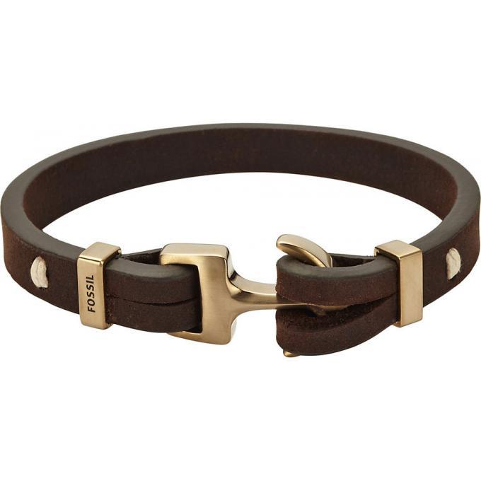 Bracelet fossil homme marron