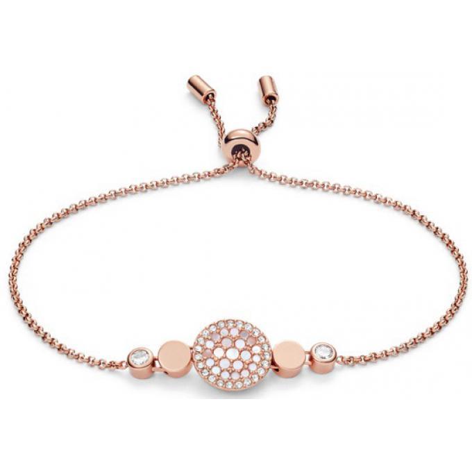 en soldes 64856 ddf51 Bracelet Fossil Bijoux JF02905791 - DISQUE NACRÉ DORÉ ROSE Ajustable 16,5  cm Femme Plus d'infos