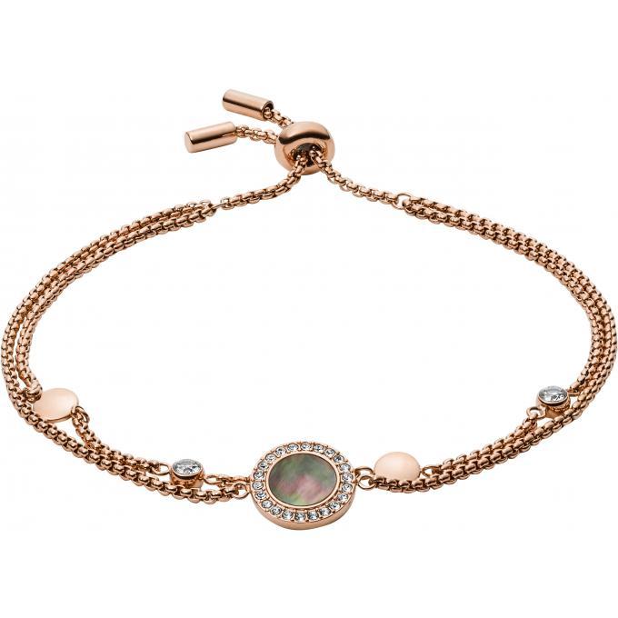 livraison gratuite a1b7b 8b8f1 Bracelet Fossil Bijoux JF02951791 - Bracelet Acier Doré Rose Femme Plus  d'infos