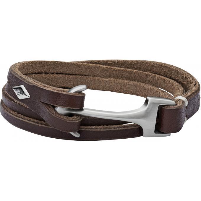bracelet fossil vintage casual jf02205040 bracelet cuir entrelac homme sur bijourama. Black Bedroom Furniture Sets. Home Design Ideas
