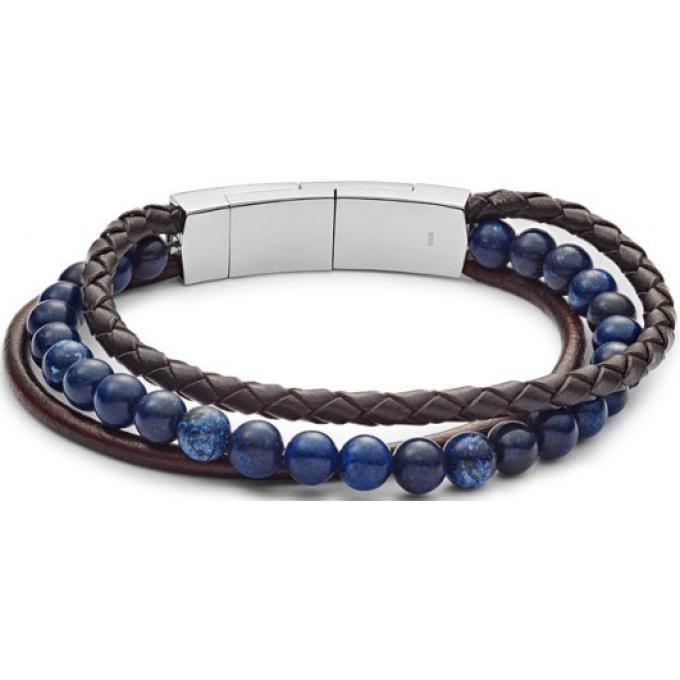 meilleur grossiste le plus fiable énorme inventaire Bracelet Fossil Bijoux JF02885040 - VINTAGE CASUAL MULTI-RANGS EN CUIR ET  PERLES Homme Plus d'infos