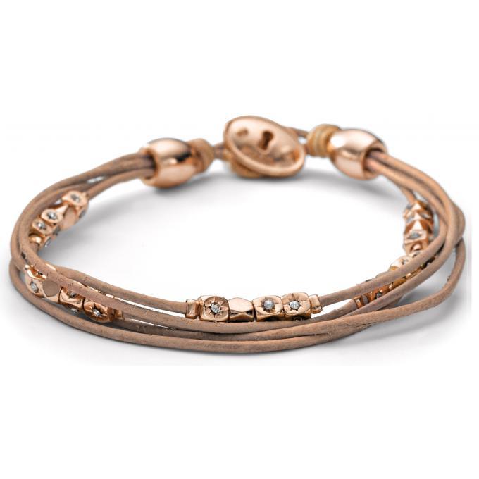 bracelet fossil ja5799791 bracelet ros cordon marron femme sur bijourama votre r f rence des. Black Bedroom Furniture Sets. Home Design Ideas