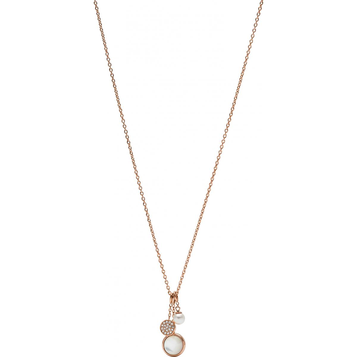 collier perle fossil
