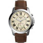 Fossil - Montre Connectée Fossil Q Grant FTW1118 - Montre Fossil Marron