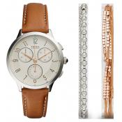 Fossil - Coffret Montre Fossil CH4001SET - Montre Fossil Marron