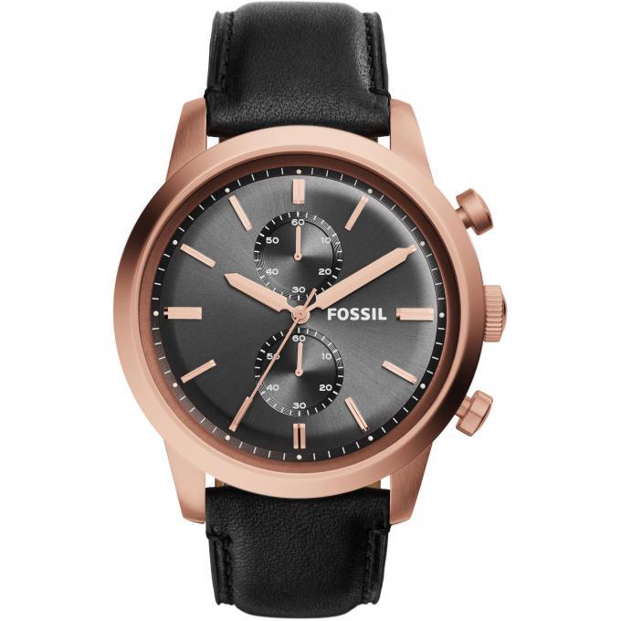 montre fossil montre townsman fs5097 montre ronde or rose homme sur bijourama n 1 de la. Black Bedroom Furniture Sets. Home Design Ideas
