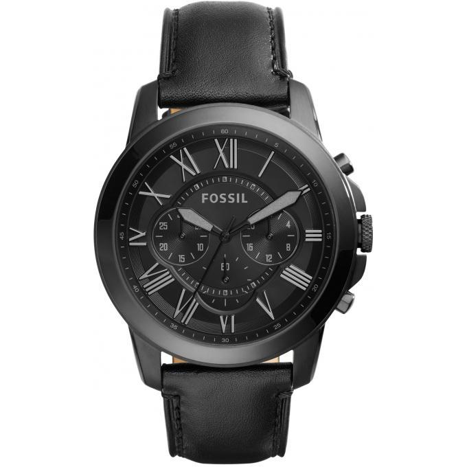 montre fossil fs5132 montre noire cuir homme sur bijourama montre homme pas cher en ligne. Black Bedroom Furniture Sets. Home Design Ideas