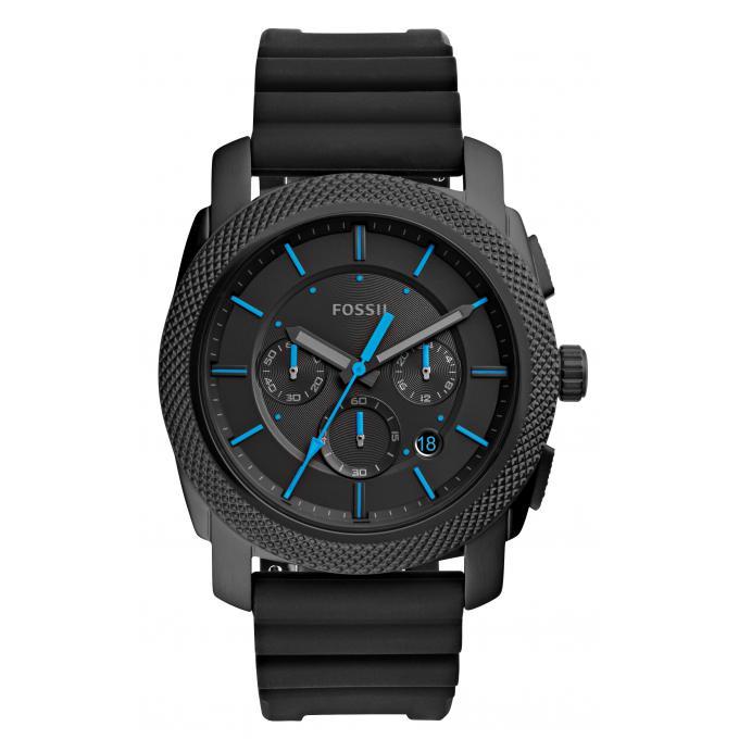 montre fossil fs5323 montre noire aiguille bleue homme sur bijourama montre homme pas cher. Black Bedroom Furniture Sets. Home Design Ideas