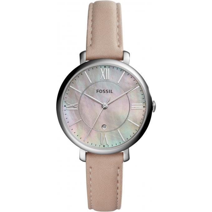 montre fossil jacqueline es4151 montre cuir beige analogique femme sur bijourama montre. Black Bedroom Furniture Sets. Home Design Ideas