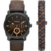 Fossil - Montre Fossil Machine FS5251SET - Montre Fossil Marron