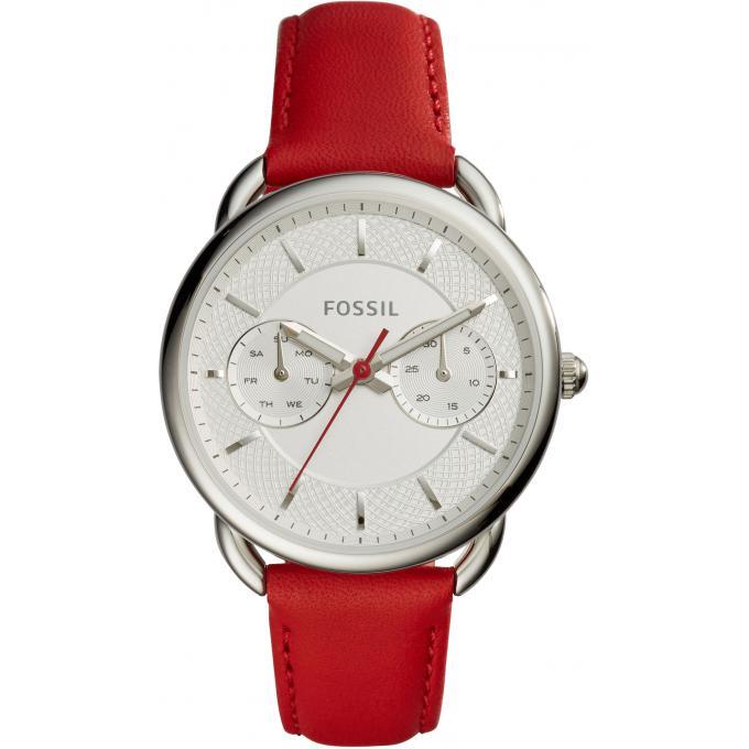 montre fossil tailor es4122 montre cuir rouge femme sur bijourama montre femme pas cher en ligne. Black Bedroom Furniture Sets. Home Design Ideas
