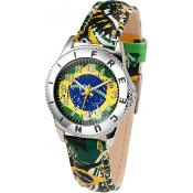 Montre Freegun Ronde Brésil Verte EE5134