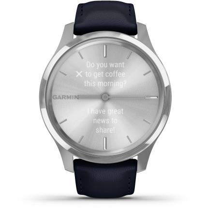 Montre connectée Garmin Vivomove Luxe 010-02241-00 Silver-Blue