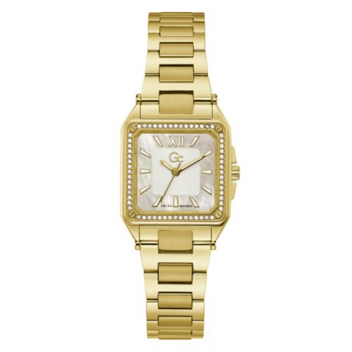 GC - Montre femme Guess Collection Y85001L1MF - Bracelet Acier Doré - Montre Guess Collection