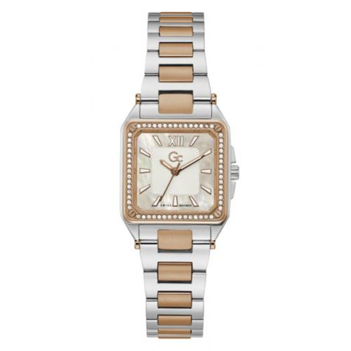 GC - Montre femme Guess Collection Y85002L1MF - Bracelet Acier Doré rose - Montre Guess Collection