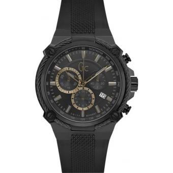 Montre GC Y38001G2 Executive Boitier Acier Gris Bracelet Cuir Noir Cadran Noir Homme Plus d'infos