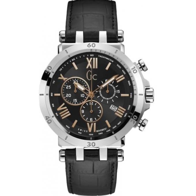 D'infos Cuir Cadran Homme Gc Plus Bracelet Noir Y44002g2 Insider Boitier Gris Montre Acier f76yYbg