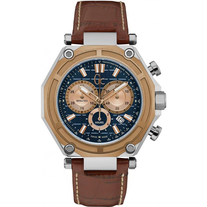 montre gc gc 3 sport x10005g7s montre chronographe cuir marron homme sur bijourama montre. Black Bedroom Furniture Sets. Home Design Ideas