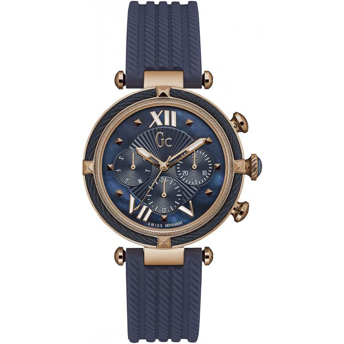 817636f4220 Montre GC Gc LadyChic Y16005L7 - Montre Chronographe Silicone Bleue Femme