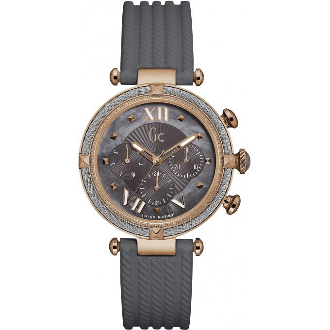 montre gc gc ladychic y16006l5 montre chronographe silicone grise femme sur bijourama montre. Black Bedroom Furniture Sets. Home Design Ideas