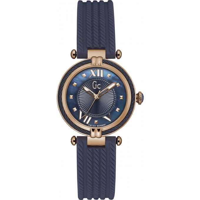 8449db8ebf5 Montre GC Gc LadyChic Y18005L7 - Montre Acier Silicone Bleue Femme ...