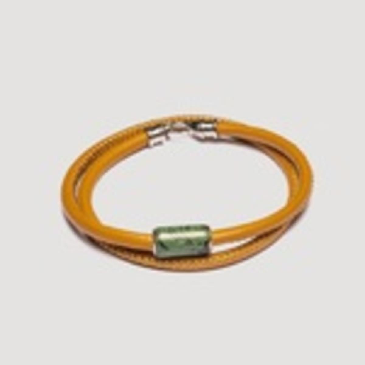 bracelet cuir vert pandora