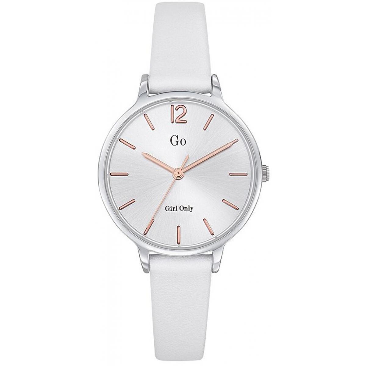 bracelet cuir montre blanc