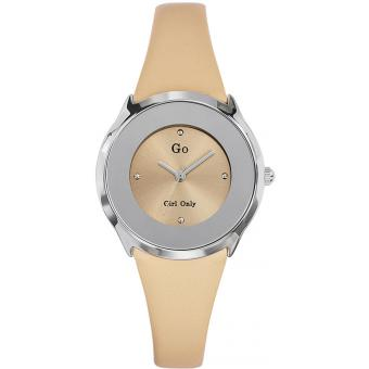 Montre Go Girl Only 698004 - Montre Cuir Beige Femme