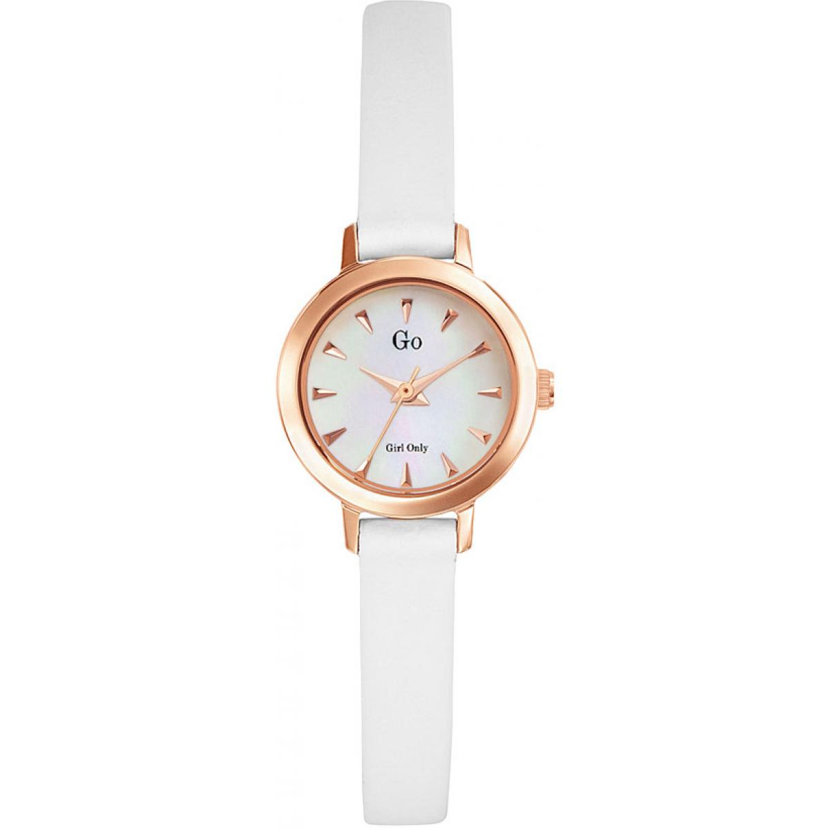 Montre Go Girl Only 698641 - Montre Cuir Blanche Femme