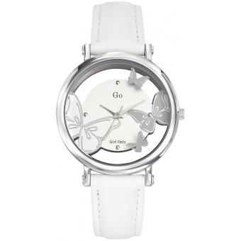 Montre Go Girl Only 698645 - Montre Blanche Cuir Femme