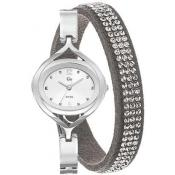 Go Girl Only - Coffret Montre et Bracelet Gris Strass Go Girl Only 693089 - Montre Femme Ovale
