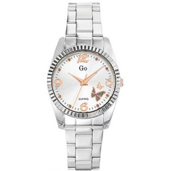 Montre Go Girl Only 694923 - Montre Ronde Argentée Papillon Femme