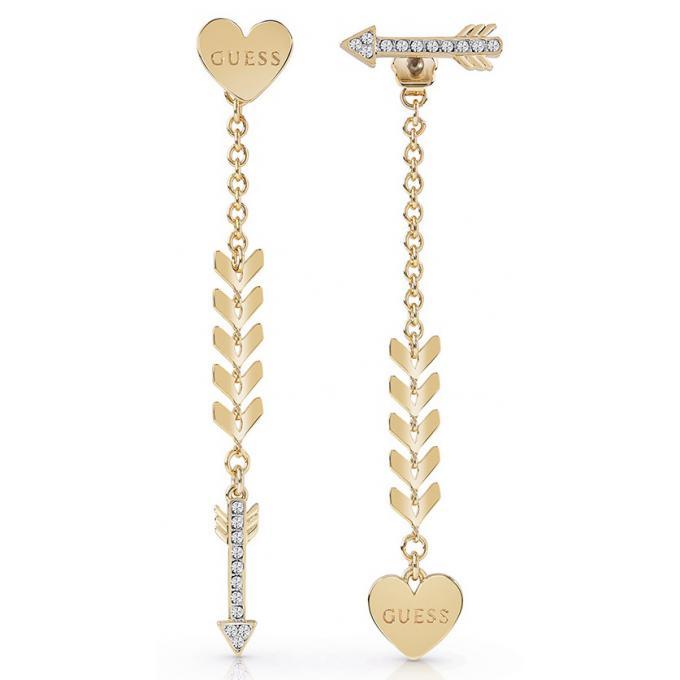 Boucles d oreilles Guess UBE85025 - Boucles d oreilles Cupid pendantes  Métal Doré Coeur 6dc97f69ffd7