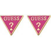 Boucles d'oreilles Guess Bijoux Puces Logo Triangle Rose UBE71315