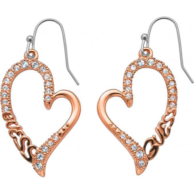 boucles d 39 oreilles guess bijoux rose gold ube71235 boucles d 39 oreilles coeur strass femme sur. Black Bedroom Furniture Sets. Home Design Ideas