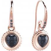 Boucles d'oreilles Guess Bijoux Pendantes Or Rose UBE21525