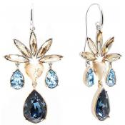 Boucles d'oreilles Guess Bijoux Strass Bleu Jaune UBE21534 - Guess Bijoux