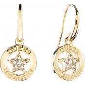 Boucles d'oreilles Guess Bijoux Pendantes Dorées UBE21576