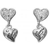 Boucles d'oreilles Guess Bijoux Cœurs Argentées UBE81105