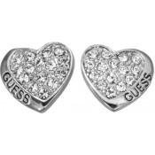 Boucles d'oreilles Guess Bijoux Coeur Strass Argent UBE11410
