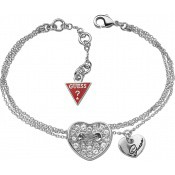 Bracelet Cœurs Argentés & chaines - Guess