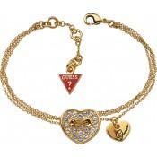 Bracelet Cœurs Dorés et chaines - Guess