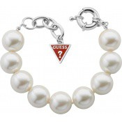 Bracelet Grosses Perles Blanches - Guess