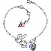 Bracelet LOVE Cristal Mauve - Guess