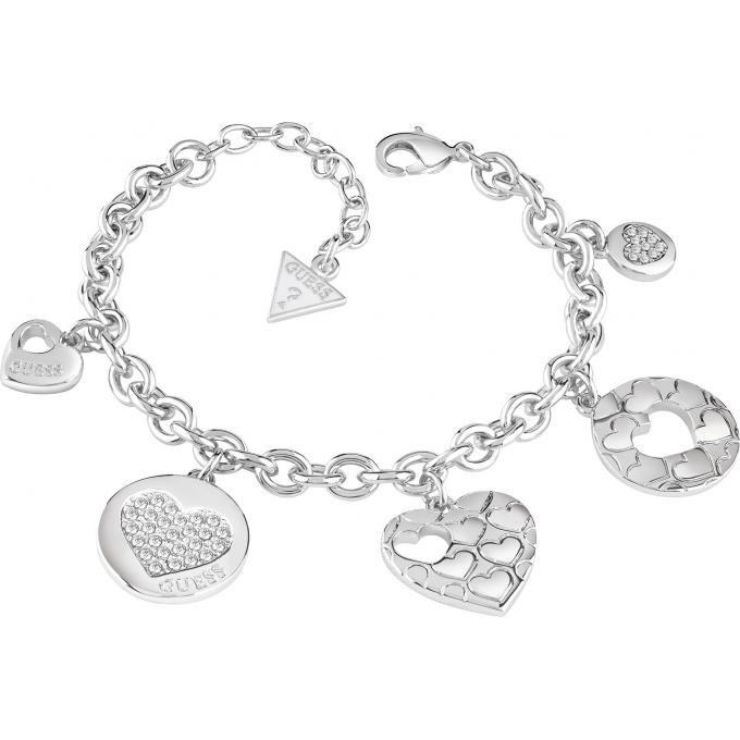 bracelet guess ubb82048 bracelet breloques argent femme sur bijourama r f rence des bijoux. Black Bedroom Furniture Sets. Home Design Ideas