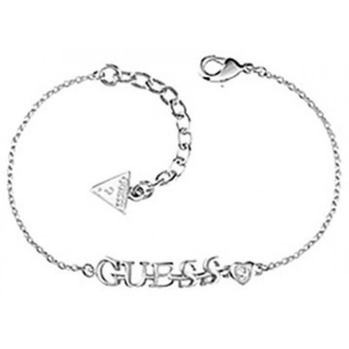Bracelet Guess UBB61092 - Bracelet Breloque Argenté Femme sur ... b6b77359afa