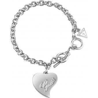 Bracelet Coeur Argenté - Guess Bijoux - Guess