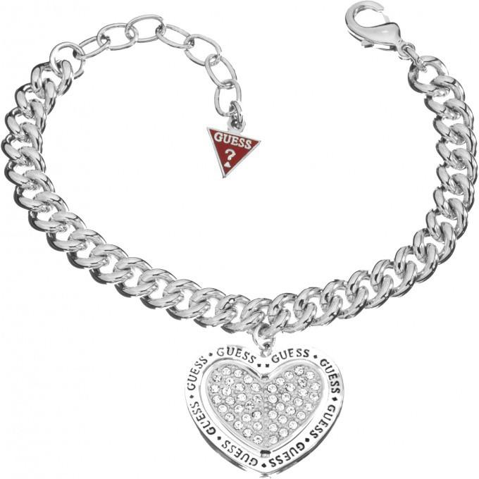 bracelet guess ubb11427 bracelet coeur ajour argent femme sur bijourama votre r f rence des. Black Bedroom Furniture Sets. Home Design Ideas