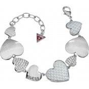 Bracelet Multicoeurs Strass Argent - Guess