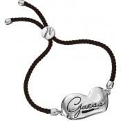 Bracelet Guess Bijoux Cordon Noir Argent UBB12111
